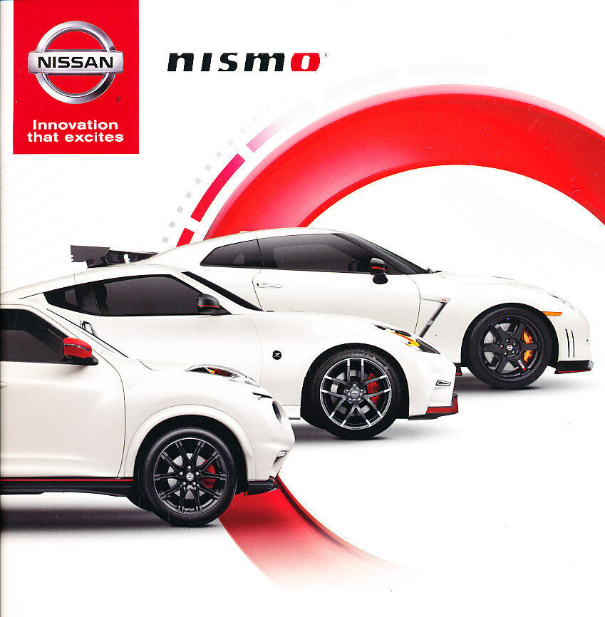 2016 nissan nismo juke gt r gtr 370z 12 page original car sales brochure catalog ebay. Black Bedroom Furniture Sets. Home Design Ideas