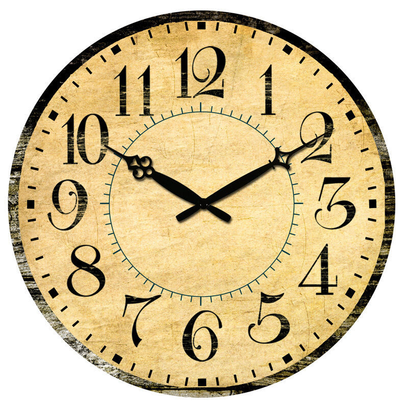 Vintage design digital clocks home kitchen decor wooden wall clock large 38cm ebay - Mondaine wall clock cm ...