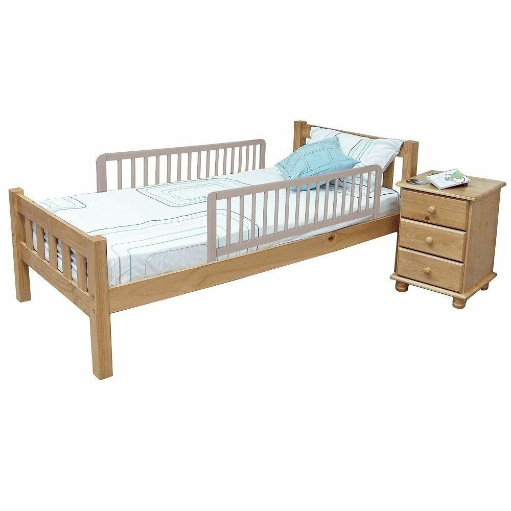 Safetots Childrens Double Sided Wooden Bed Rail Toddler Bed Guard