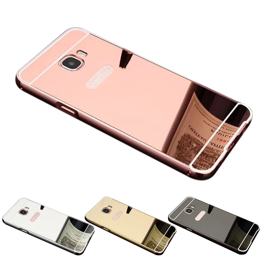 for samsung j7 prime thin mirror acrylic back cover metal