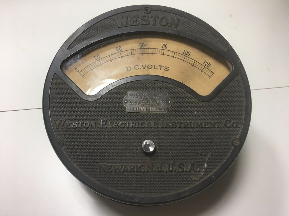 Antique Electrical Measuring Instruments : Vintage weston electrical instrument co voltmeter model