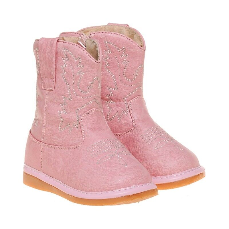 s toddler light pink leather cowboy squeaky boots ebay