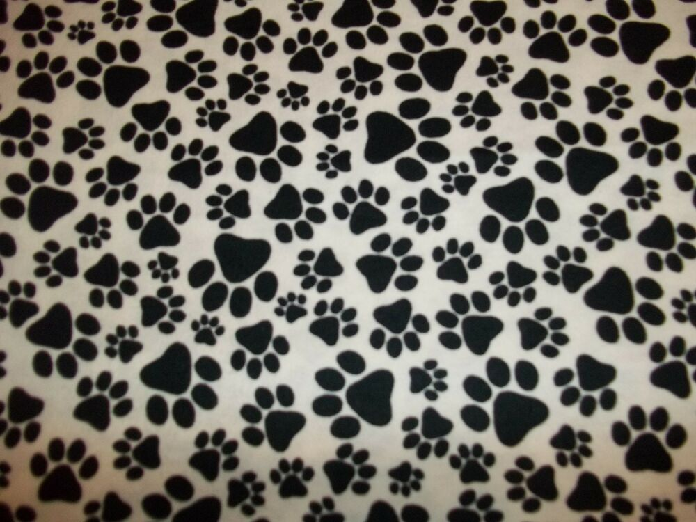 Handmade Flannel Fitted Crib Sheet White W Black Puppy