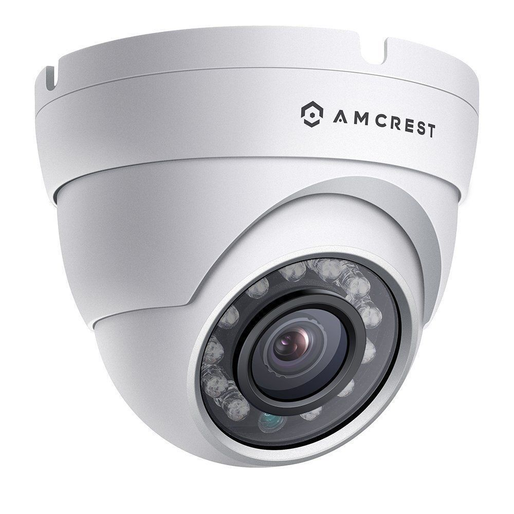 Exterior Home Security Cameras: Amcrest IP2M-844EW Outdoor 1080P HD Dome POE IP Network