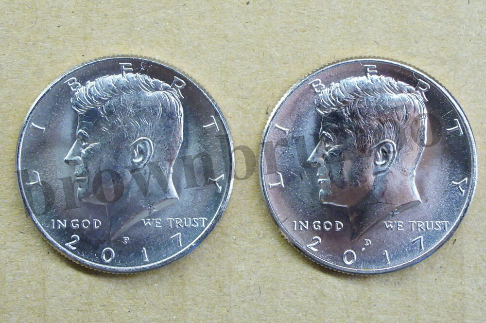 2017 P Amp D Kennedy Half Dollar Uncirculated 2 Coins