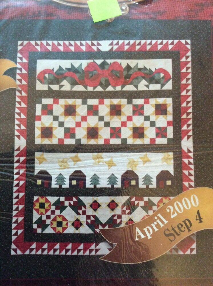 Joann Fabrics 2000 Holiday Tidings April Step 43 Quilt