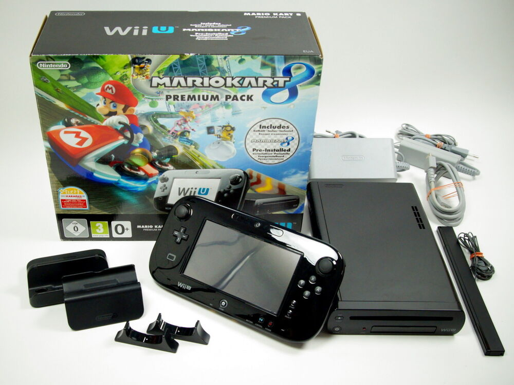nintendo wii u konsole premium pack mario kart 8 32gb. Black Bedroom Furniture Sets. Home Design Ideas