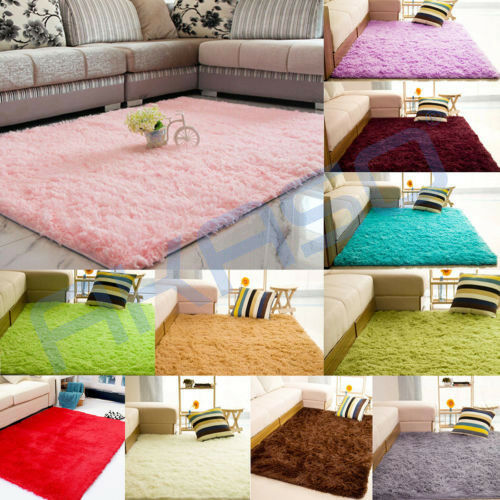 how to clean a fluffy rug