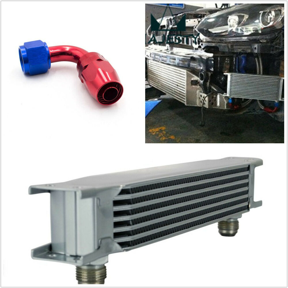 Auto Mobile Engine Oil Cooler : Car aluminum row an engine transmission mm oil