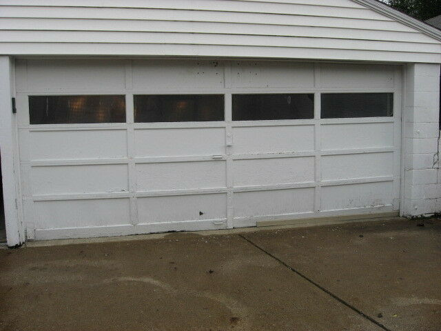 Low clearance low headroom 7 x 16 double garage door 16x7 for 16x7 garage door with windows