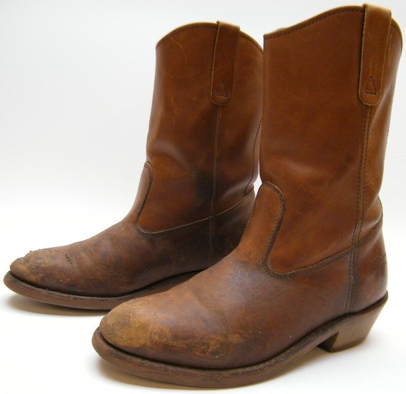 MEN FIELD N FOREST BROWN WELLINGTON PULL ON WORN LEATHER WORK ...