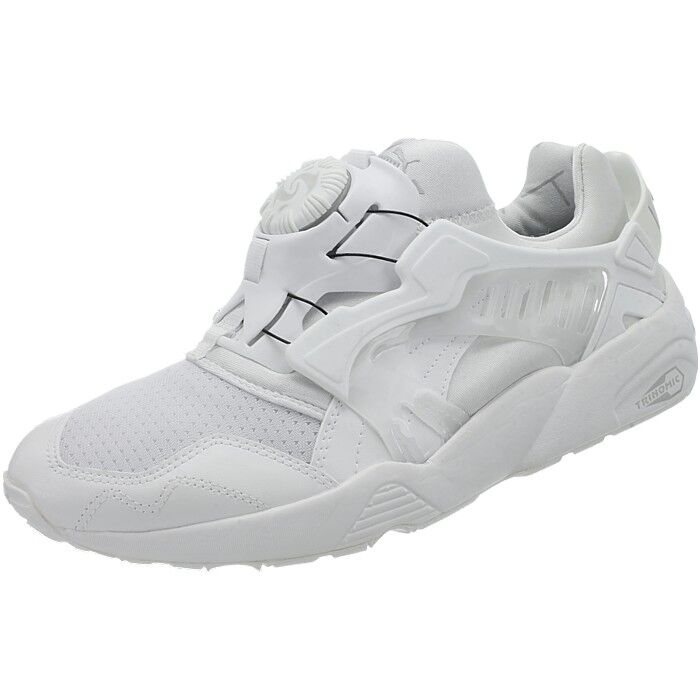 d04cccf02a59 Details about Puma Disc Blaze Updated Core men s low-top sneakers white  casual shoes NEW