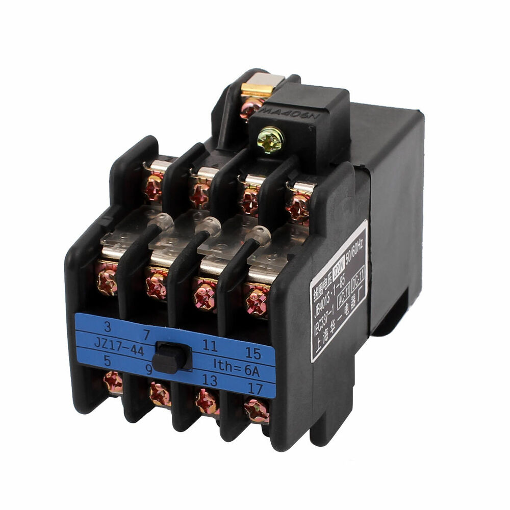 ac 220v coil voltage ith 6a 4no 4nc auxiliary contactor. Black Bedroom Furniture Sets. Home Design Ideas