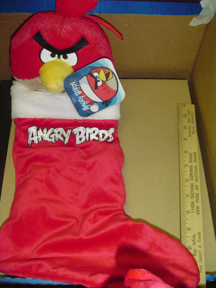 Tactical Christmas Stocking Stuffed.Angry Birds Red Christmas Stocking Stuffer House Decoration Plush Holds Presents 22286919012 Ebay