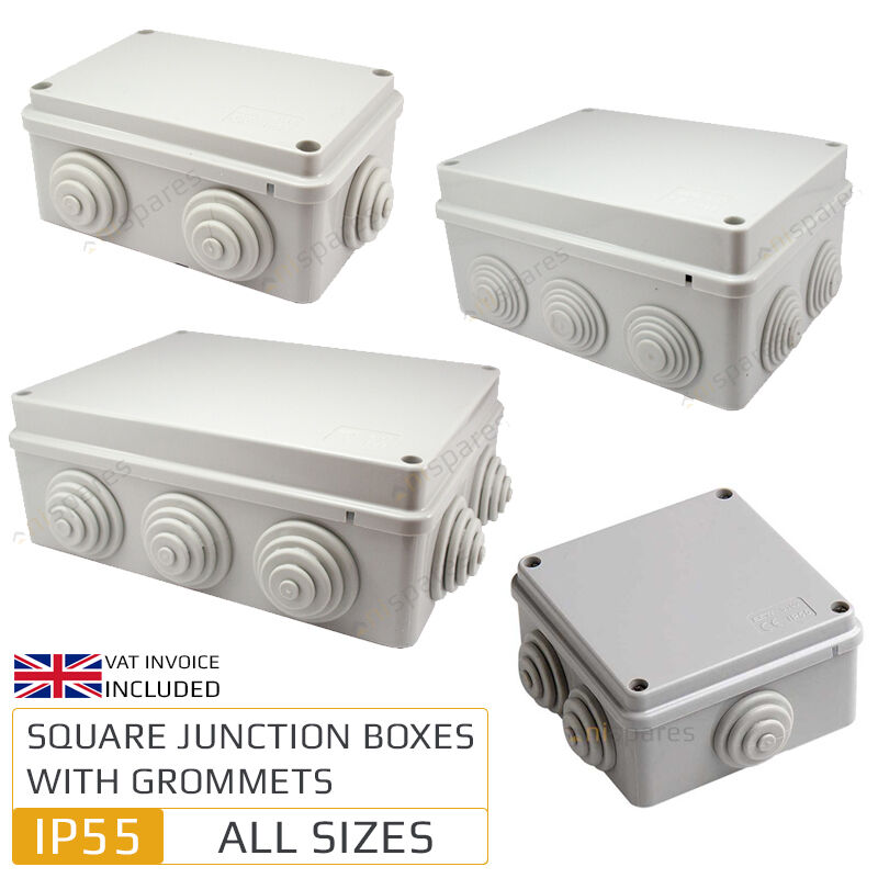 Install Porch Light Junction Box: Weatherproof IP55 Junction Box With Grommets Outdoor
