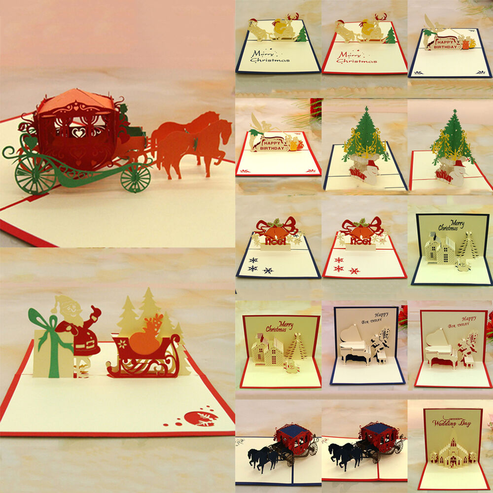 3d pop up handmade greeting cards best wish thank you