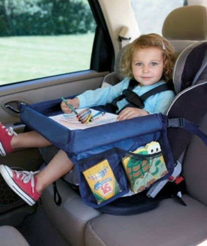 CAR SEAT SNACK FOOD DRINK TOY PLAY READING TRAY TRAVEL STORAGE ...