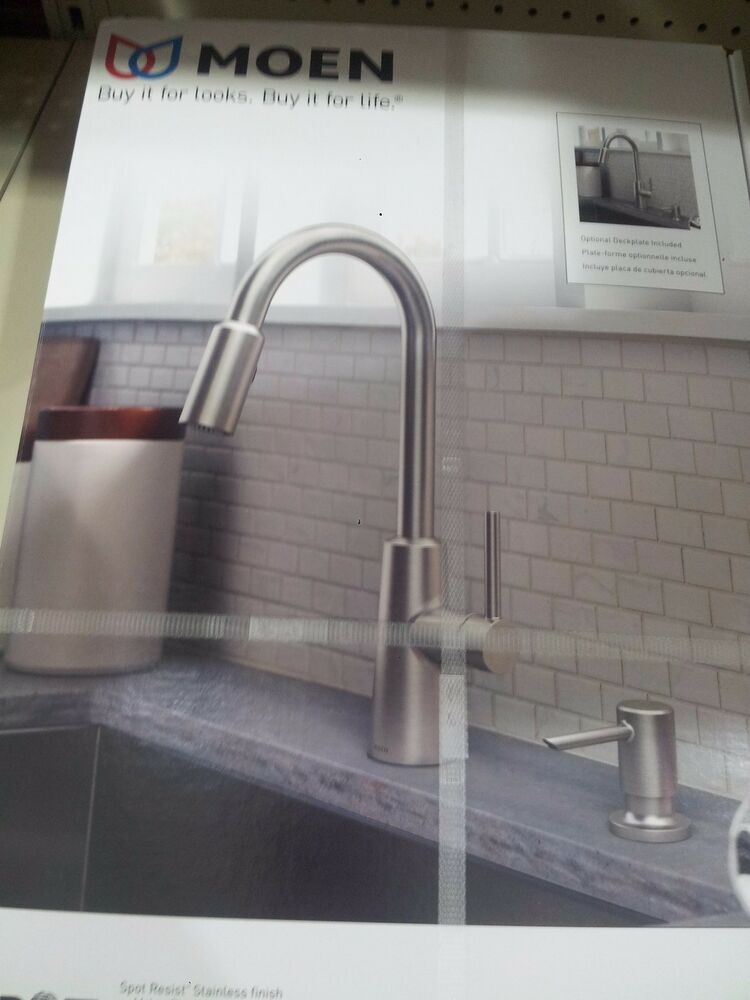 Moen Nori Spot Resist Stainless One Handle Pulldown Kitchen Faucet 87066srs Ebay