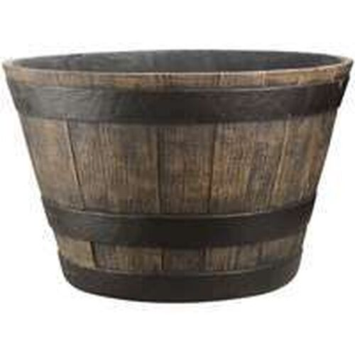 Case of 4 large 20 large whiskey barrel flower planter for Fiberglass garden tub