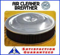 "14"" x 3"" Spun Aluminum Washable Breather Air Cleaner Filter Reusable Oil Oiled"