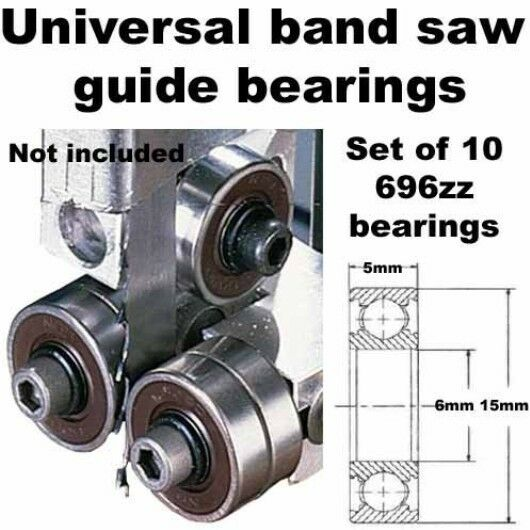 Universal Band Saw Guide Bearings Set Of 10 Ebay