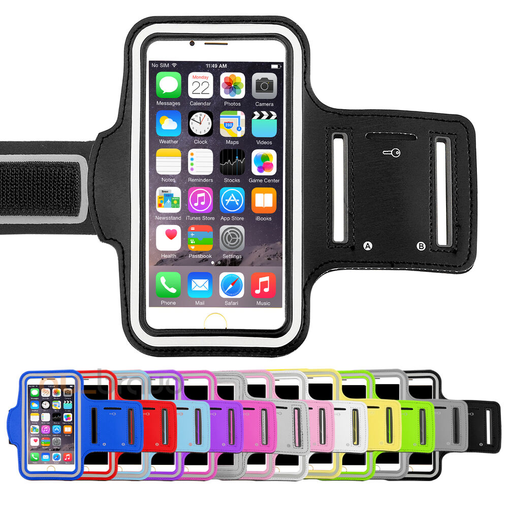 sports gym armband arm case holder running exercise for apple iphone 8 7 6s plus ebay. Black Bedroom Furniture Sets. Home Design Ideas