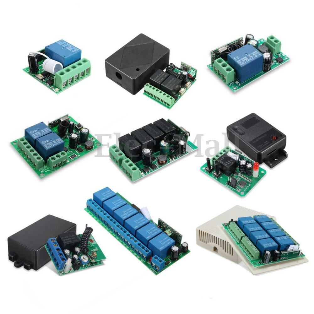 1 2 4 6 8 Ch Channel Wireless Rf Remote Control Receiver Relay Module 12 Volt Transmitter Schematic Switch 315 433mhz Ebay