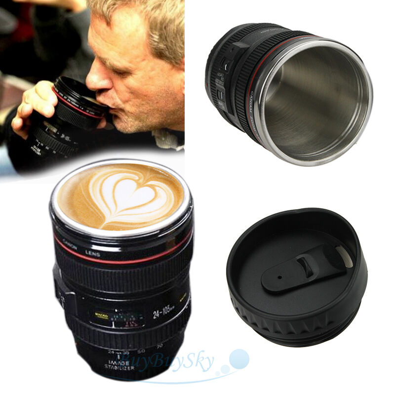 24 105mm Canon Lens 100 200ml Thermos Camera Travel Coffee
