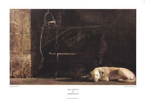 Ides of March by Andrew Wyeth - Dog Art Print Fireplace ...
