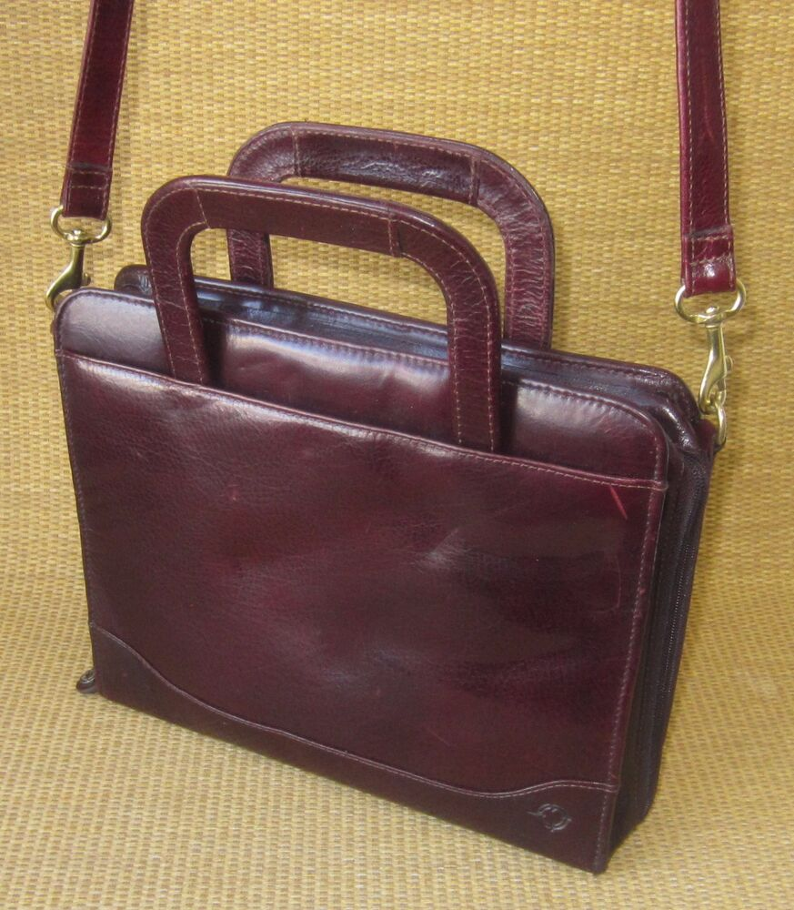 Burgundy FINE LEATHER FRANKLIN COVEY