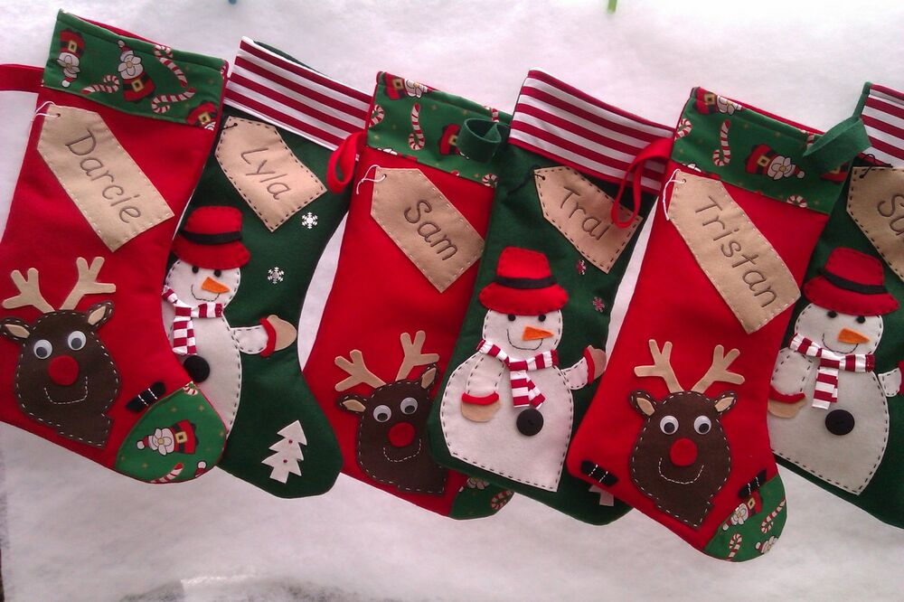 Personalised Christmas Stocking Handmade Ebay