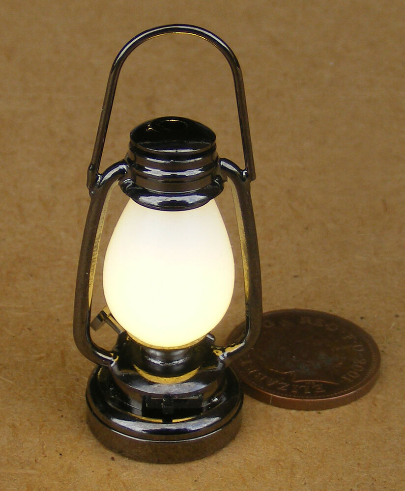1 12 Working Led Antique Victorian Battery Oil Lamp Dolls