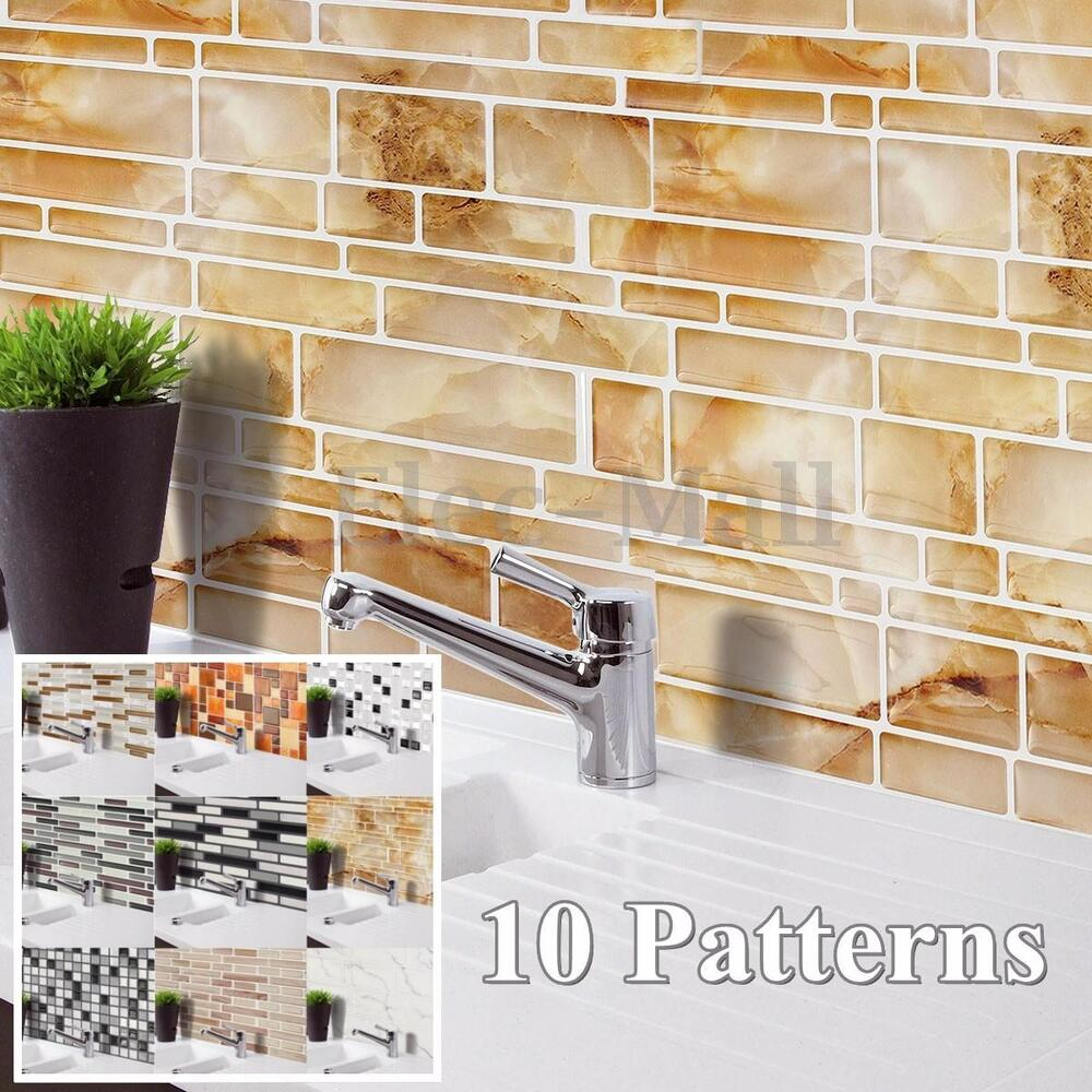 3d wallpaper sticker tile brick self adhesive mosaic for Kitchen wallpaper 3d