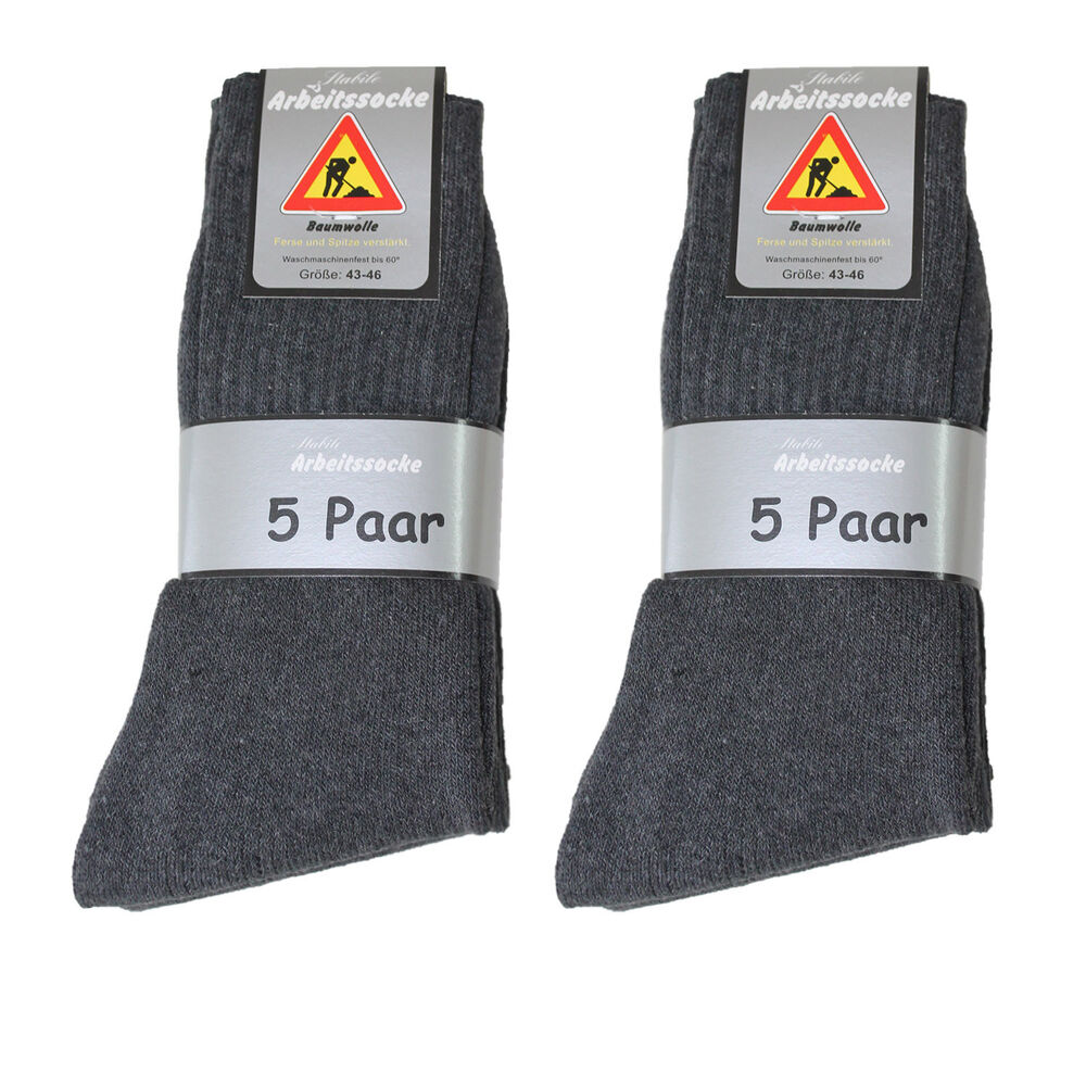 50 paar herren arbeits socken arbeitssocken 92 bw uni anthrazit gr 39 50 ebay. Black Bedroom Furniture Sets. Home Design Ideas