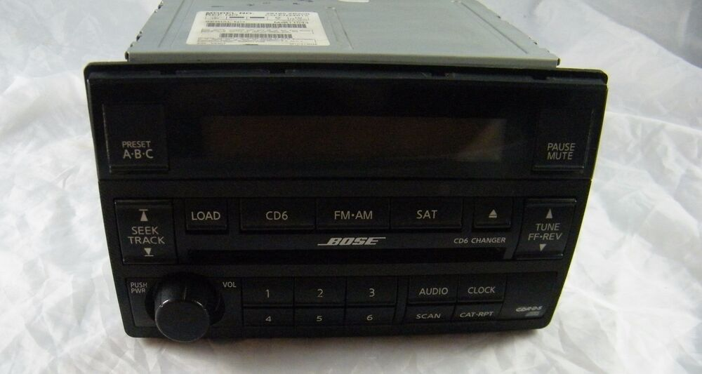 nissan altima bose radio 6 cd player model 28185 zb20b. Black Bedroom Furniture Sets. Home Design Ideas