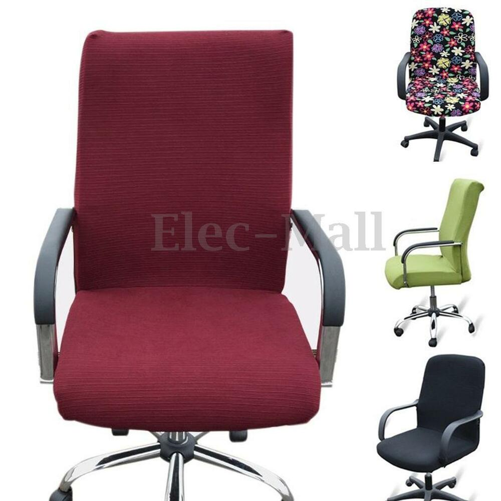 L M S Flexible Stretchy Office Dining Armchair Seat Swivel