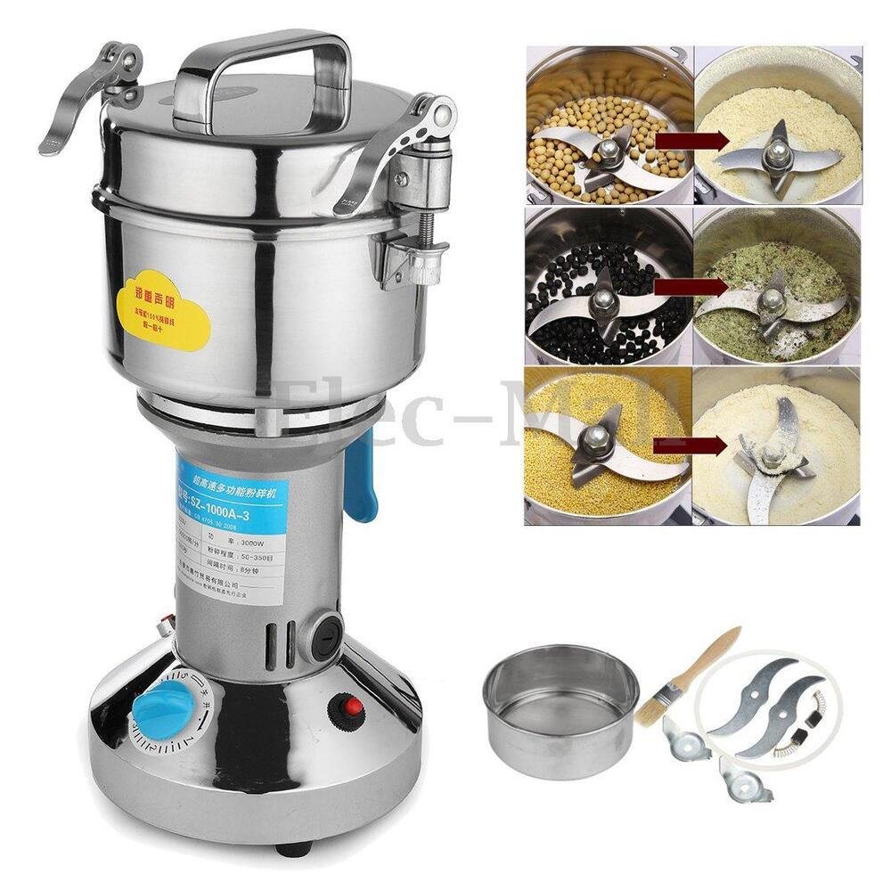 1000g electric herb grain grinder cereal mill flour coffee food wheat machine ebay. Black Bedroom Furniture Sets. Home Design Ideas