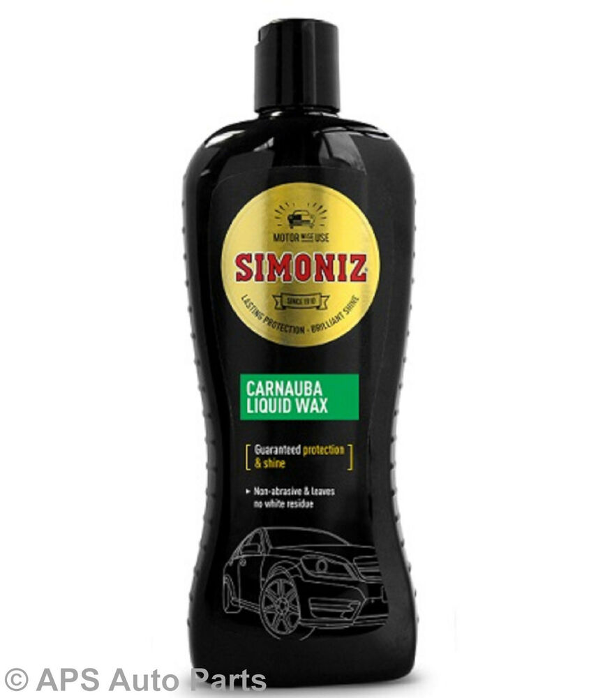 simoniz carnauba liquid wax car polish auto care. Black Bedroom Furniture Sets. Home Design Ideas