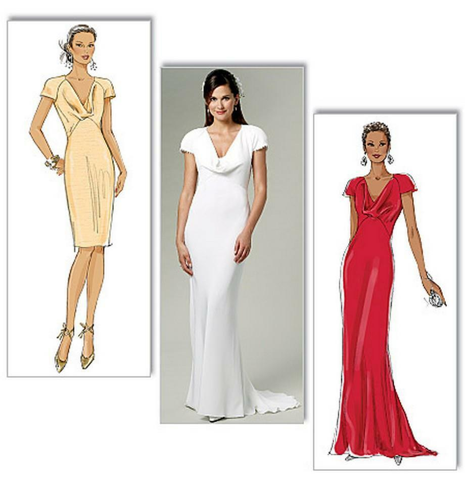 Butterick sewing pattern b5710 misses bias wedding for Butterick wedding dress patterns