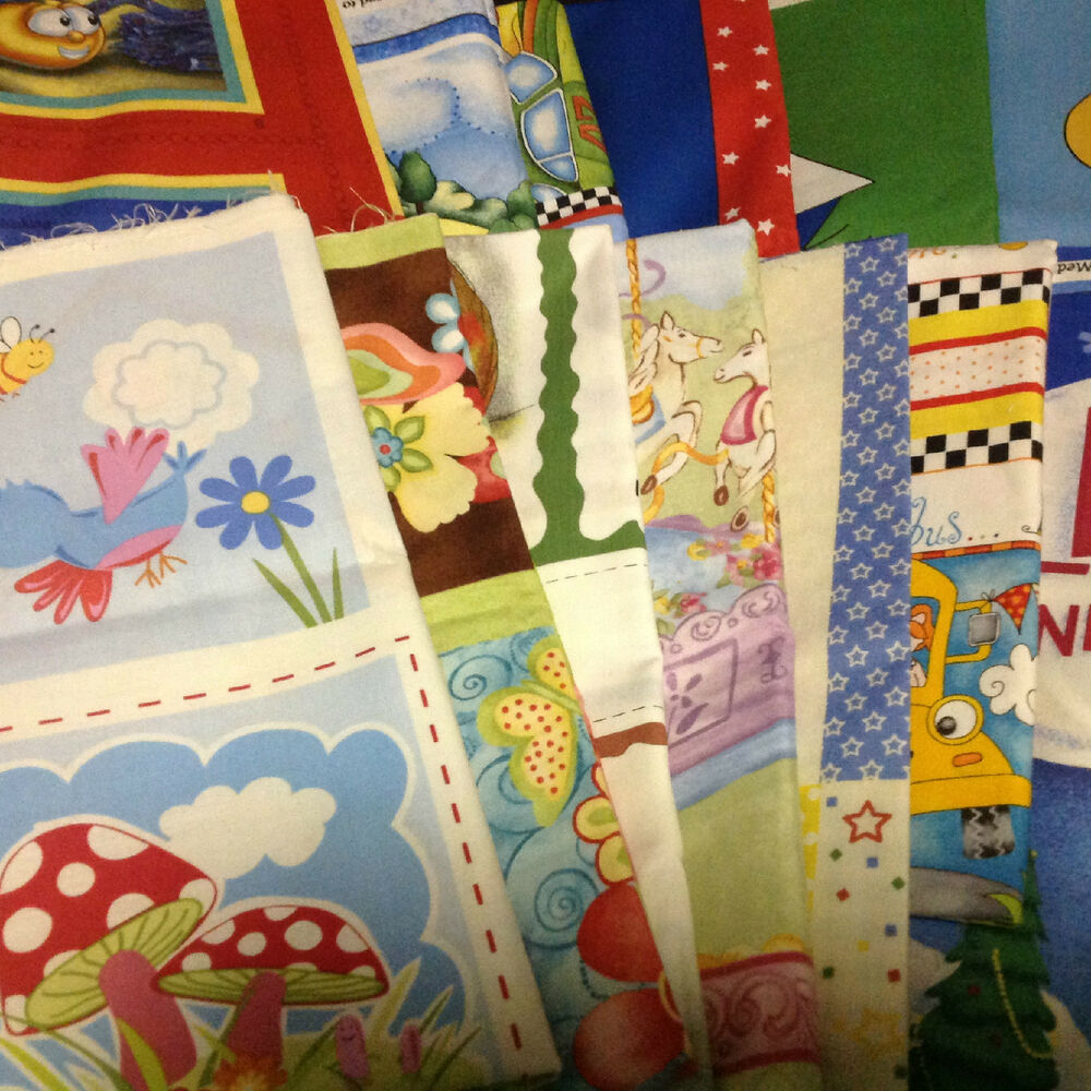 Kids Novelty Fabric Of Quilt Panel Quilting Soft Book Cotton Panels 13
