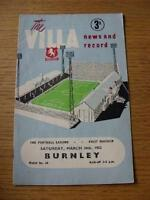 24/03/1962 Aston Villa v Burnley  (Creased, Folded). No obvious faults, unless d