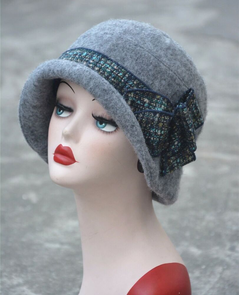 Womens Gatsby 1920s Vintage style Flapper Cloche Downtown ...
