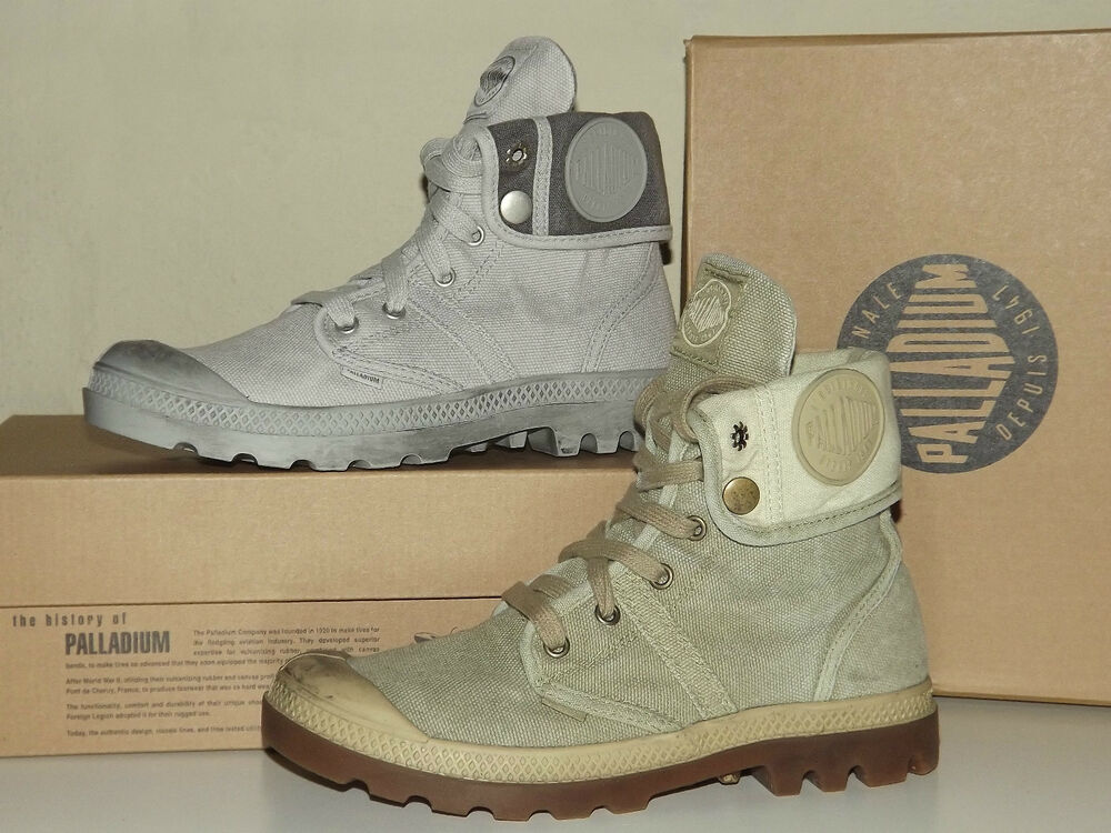 b93da20bf4f Discount 30% Palladium High Sneakers Shoes Canvas 37 39 Grey Sand Combat  Boots | eBay