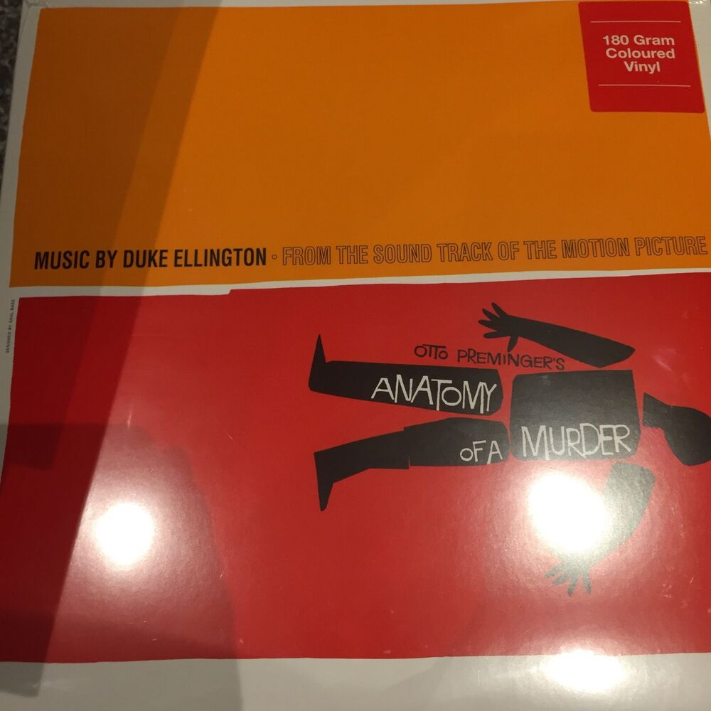 DUKE ELLINGTON - Anatomy Of A Murder Soundtrack - On Orange Vinyl ...