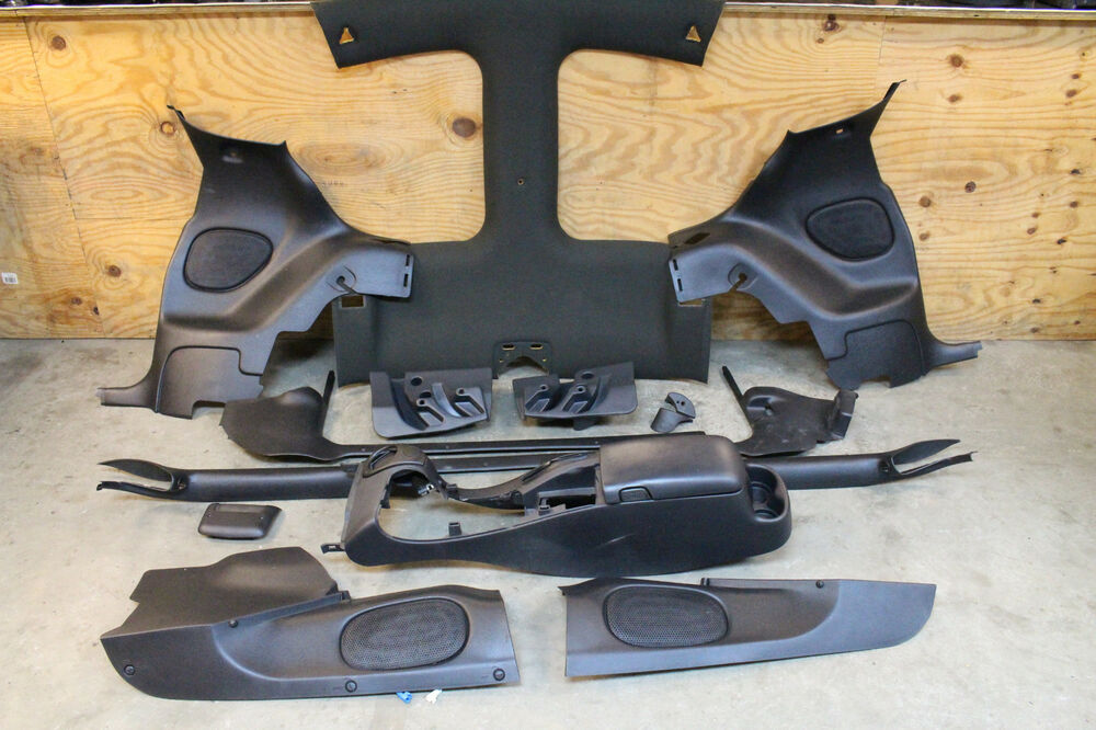 93 02 Camaro Firebird Ebony Black T Top Interior Basic Trim Kit Used Gm Oem Ebay