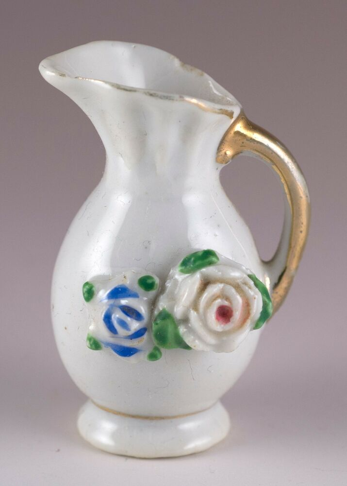 Vintage Miniature Porcelain Floral Pitcher 2 Quot High Made In