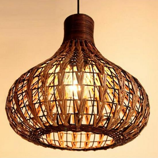 new tropical bamboo chandelier diy wicker rattan lamp