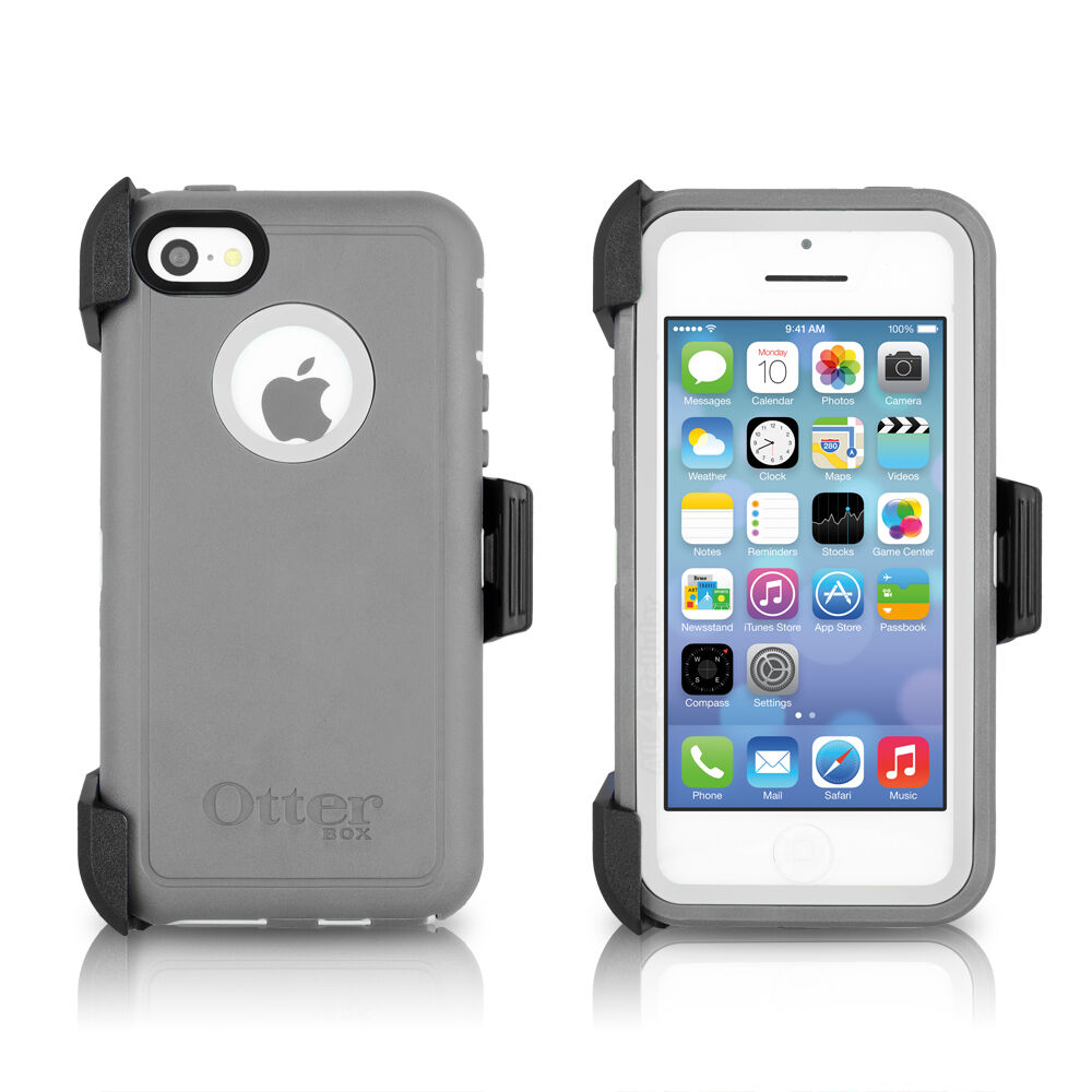 iphone 5c phone cases otterbox defender iphone 5c amp holster glacier gray 2343