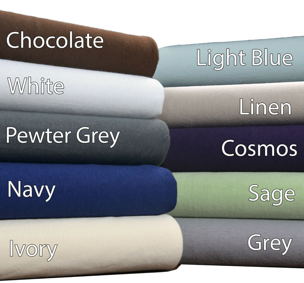 T Shirt Jersey Bed Sheets