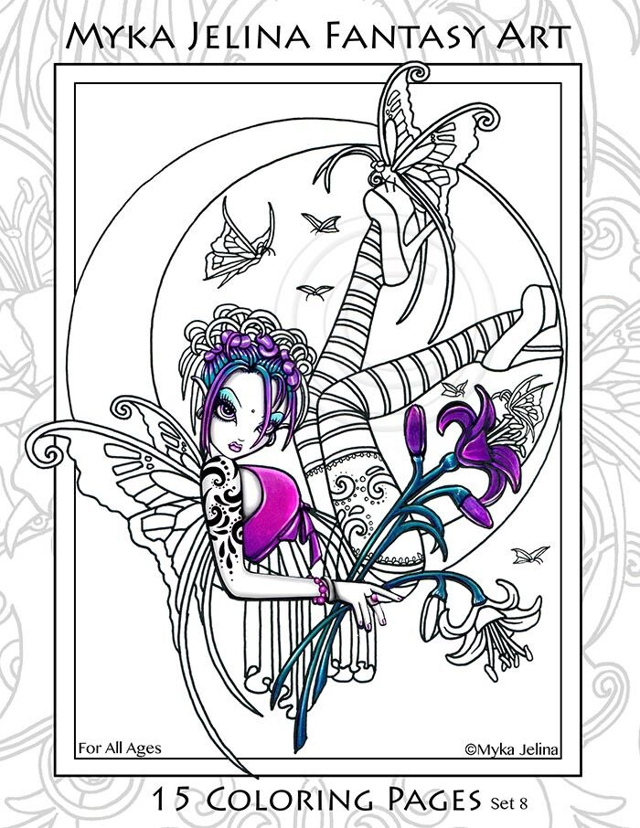 Myka Jelina Coloring Pages Flower Fairy Big Eyed